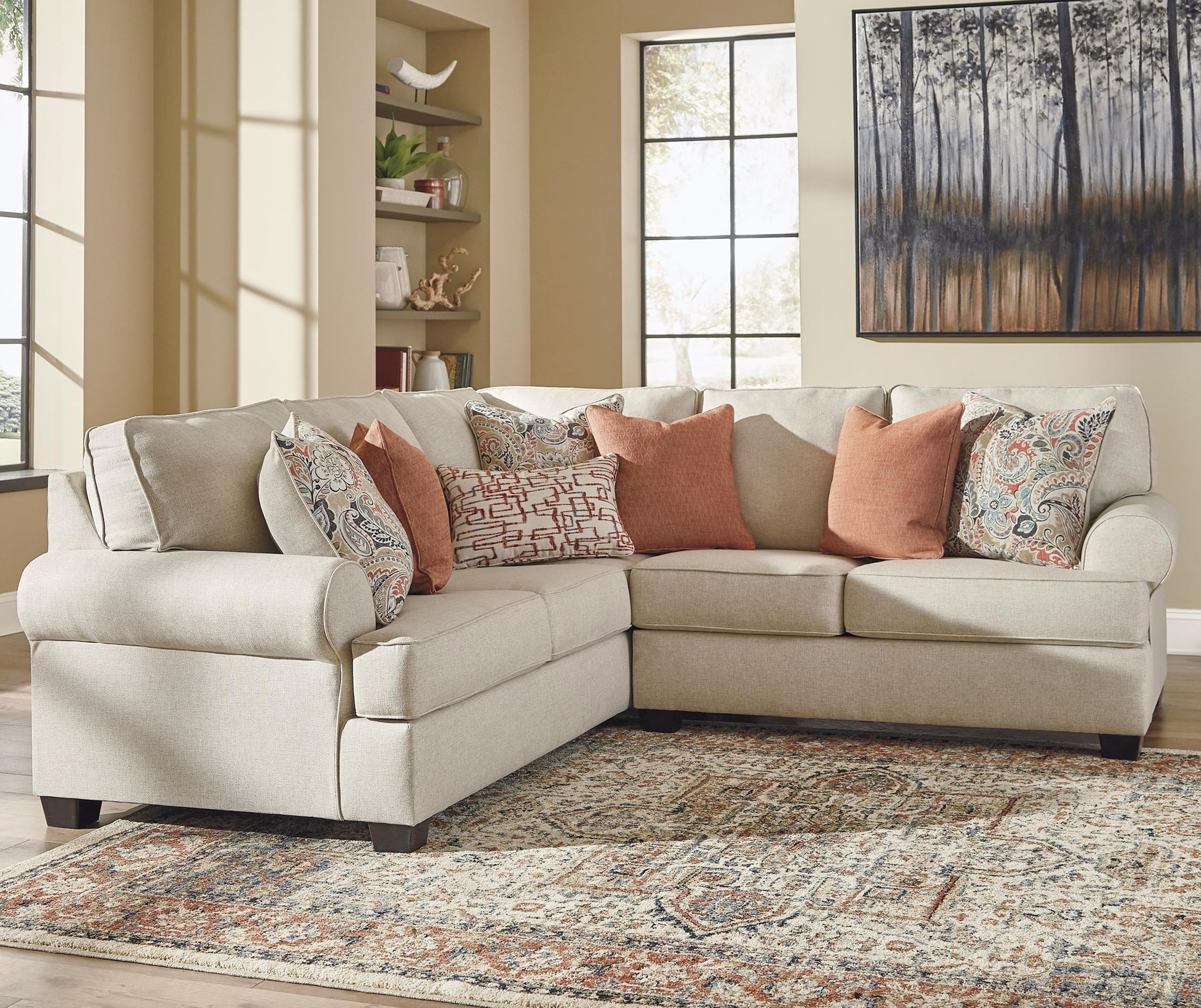 Amici 2-Piece Corner Sectional by Signature Design by Ashley at Beds N Stuff