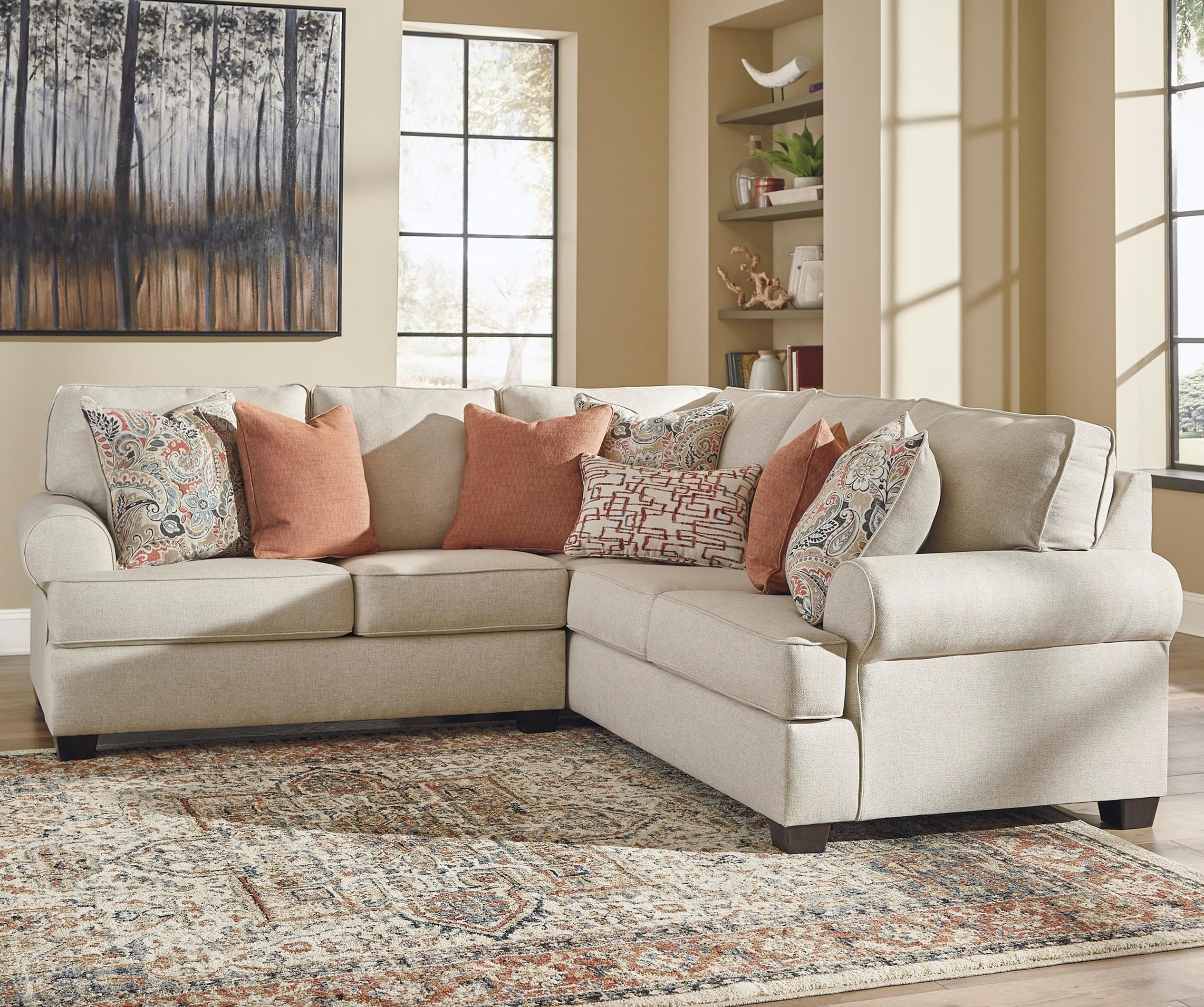 Amici 2-Piece Corner Sectional by Signature Design by Ashley at Rife's Home Furniture