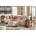 Signature Design by Ashley Amici 2-Piece Corner Sectional with Rolled Arms