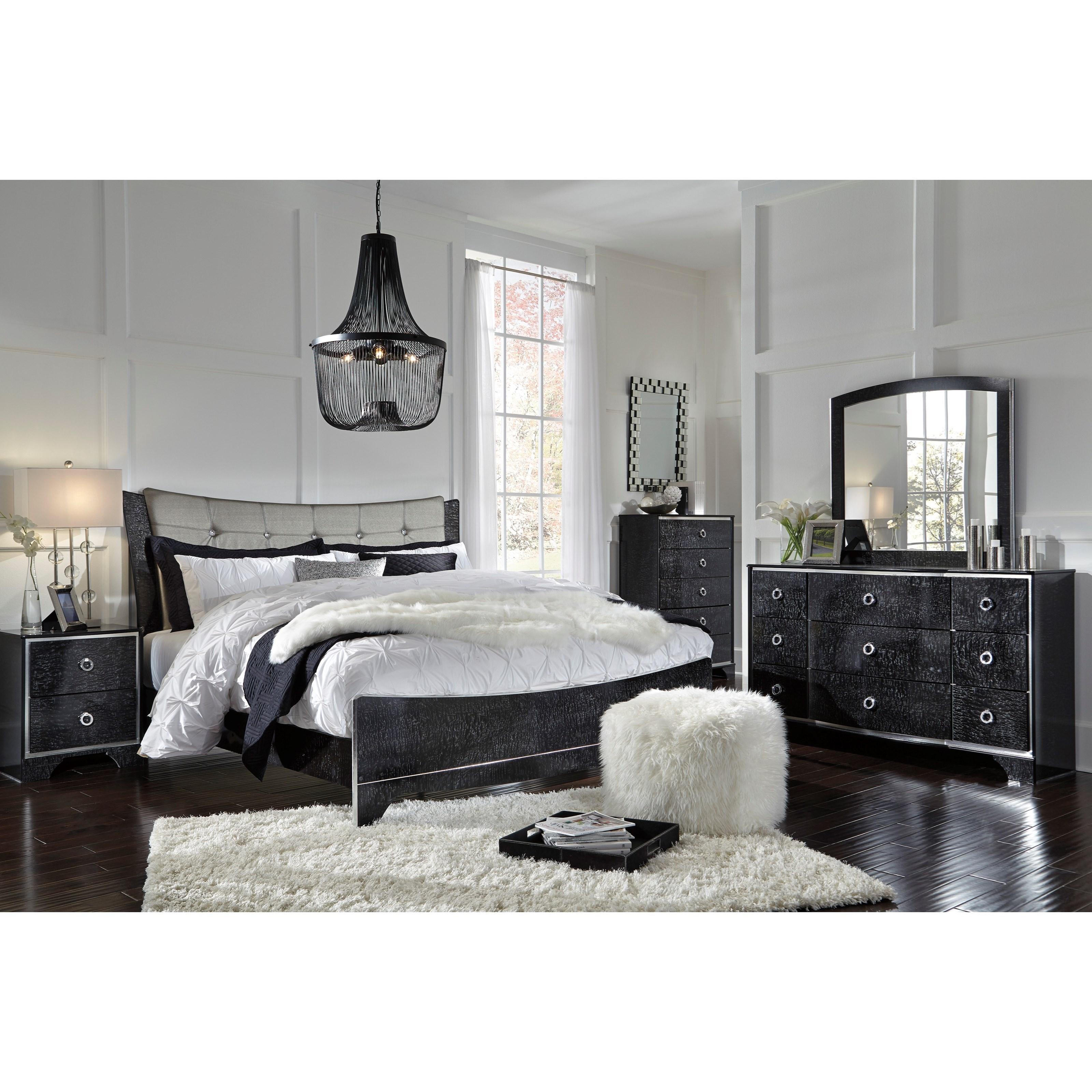 Signature Design by Ashley Amrothi King Bedroom Group - Item Number: B257 K Bedroom Group 1