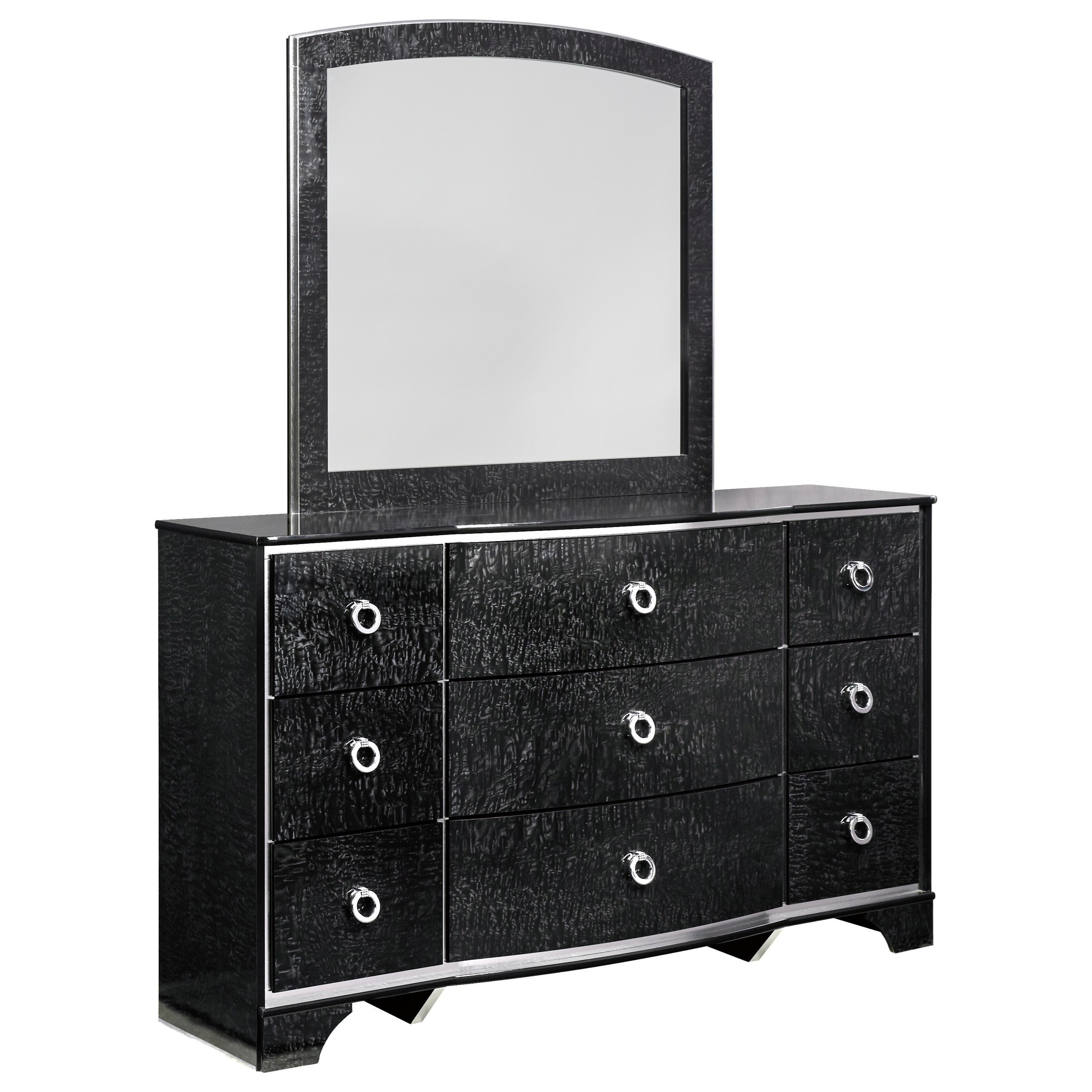 Signature Design by Ashley Amrothi Dresser & Bedroom Mirror - Item Number: B257-31+36