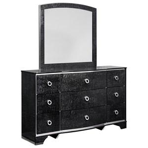 Signature Design by Ashley Amrothi Dresser & Bedroom Mirror