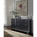 Signature Design by Ashley Amrothi Bow Front Dresser with Silver Finish Trim