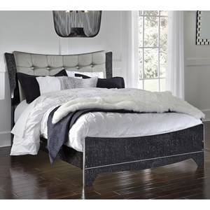 Signature Design by Ashley Amrothi Queen Upholstered Panel Bed