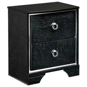 Signature Design by Ashley Amrothi Two Drawer Night Stand