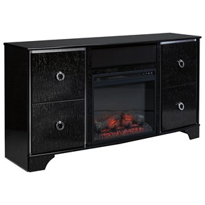 Signature Design by Ashley Amrothi TV Stand with Fireplace Insert