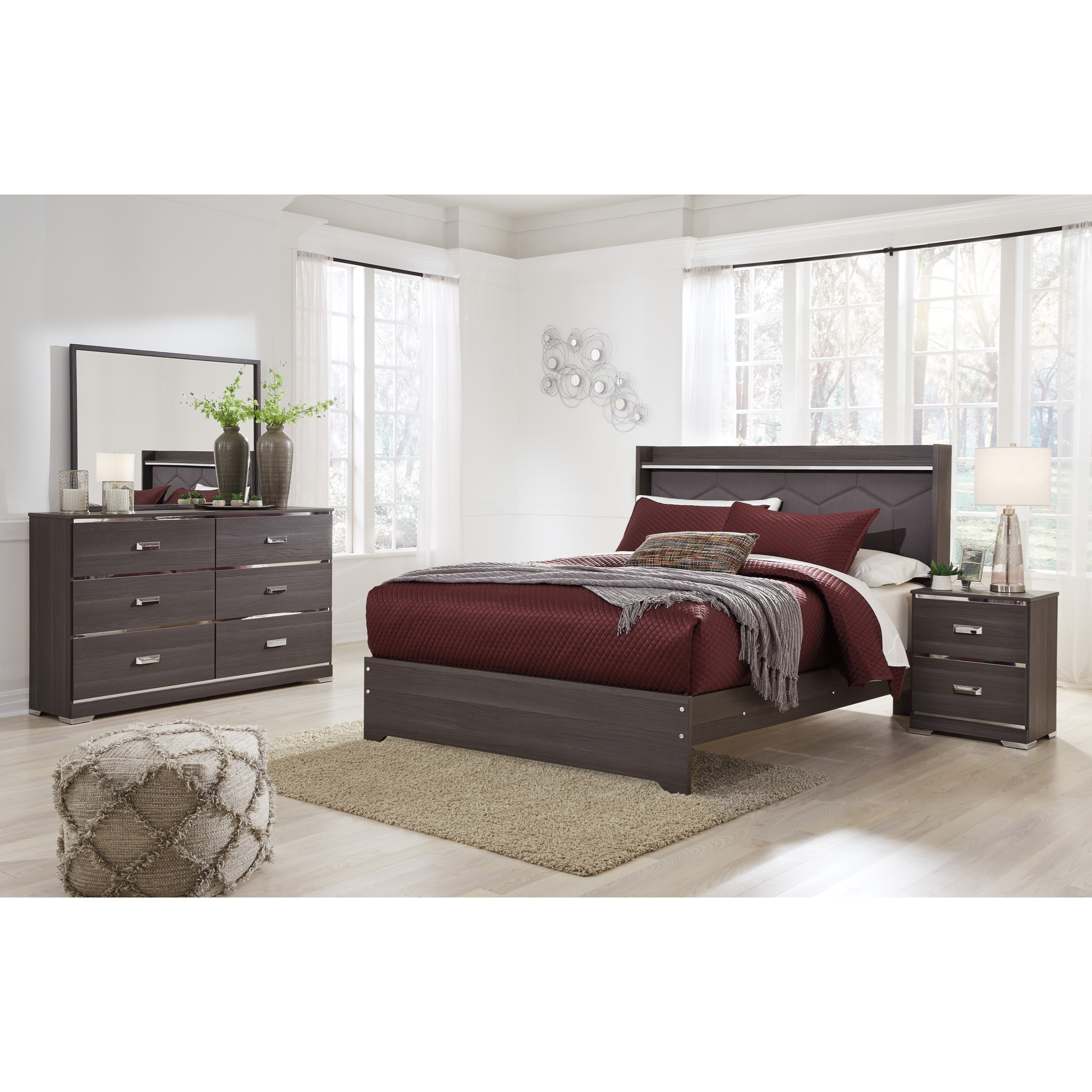 Signature Design by Ashley Annikus Queen Bedroom Group - Item Number: B132 Q Bedroom Group 2