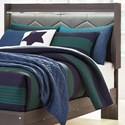 Signature Design by Ashley Annikus Full Upholstered Panel Headboard with Shelf and Light