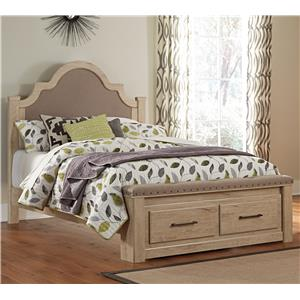 Signature Design by Ashley Annilyn Queen Upholstered Bed with Storage Footboard