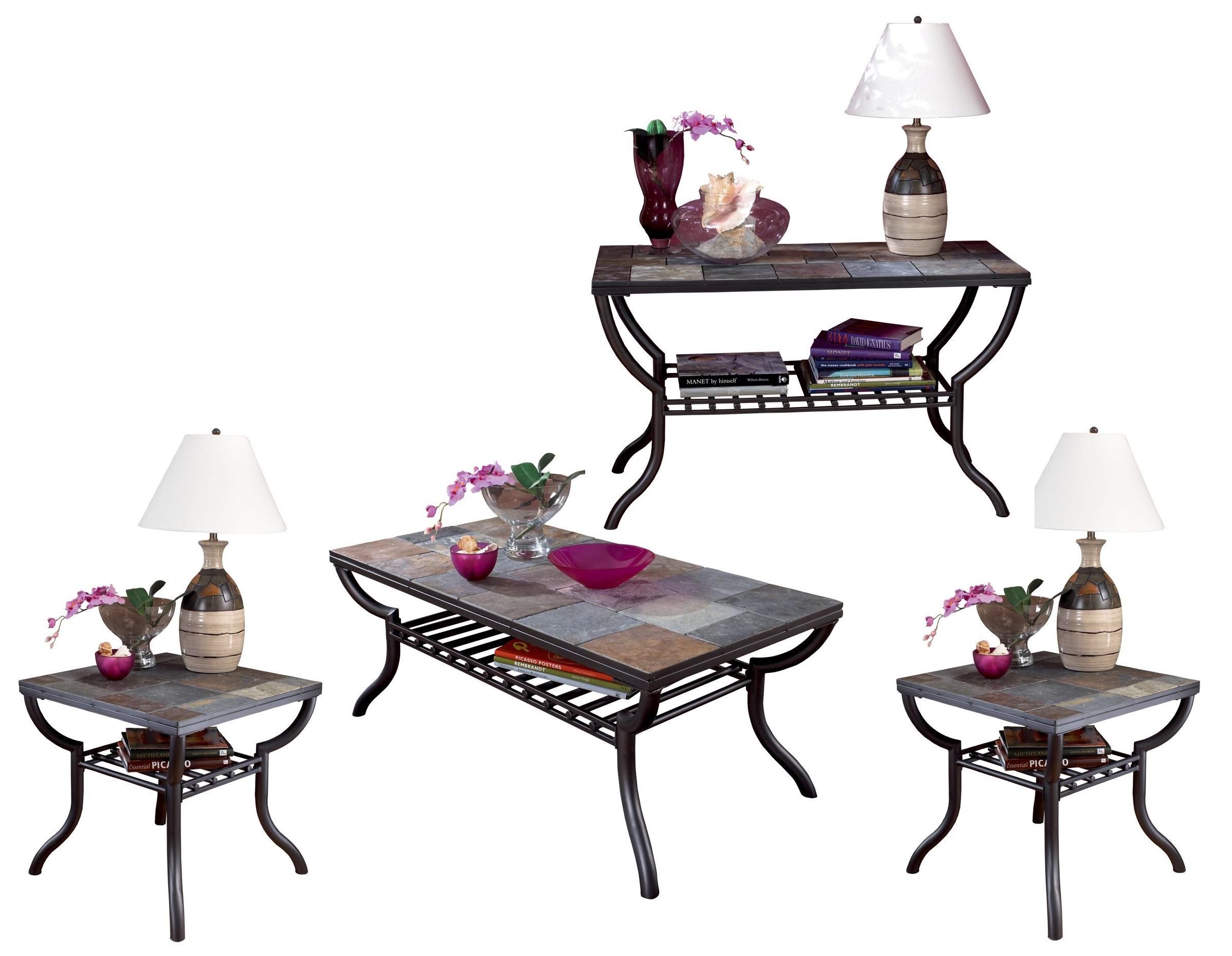 Signature Design by Ashley Antigo 4-Piece Occasional Table Set - Item Number: T233-1+2x2+4