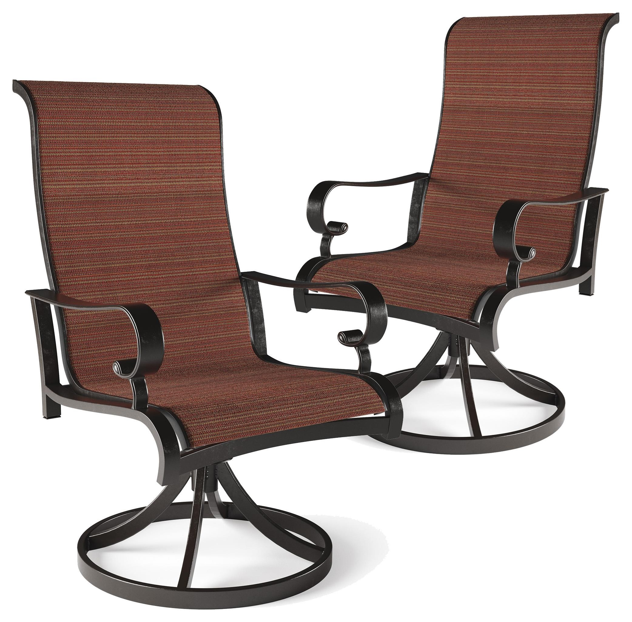 Trendz Artisan Sun Set of 2 Sling Swivel Chairs - Item Number: P316-602A