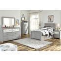 Signature Design by Ashley Arcella Twin Side Storage Bed in Gray Finish