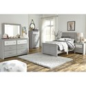 Signature Design by Ashley Arcella Twin Panel Bed in Gray Finish