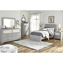 Signature Design by Ashley Arcella Twin Bed with Footboard Drawer in Gray Finish
