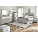 Signature Design by Ashley Arcella Full Side Storage Bed in Gray Finish