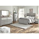 Signature Design by Ashley Arcella Full Panel Bed in Gray Finish