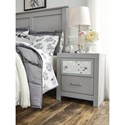 Signature Design by Ashley Arcella 2-Drawer Nightstand with USB Charging and Reversible Panel