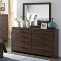 Signature Design by Ashley Arkaline Dresser & Bedroom Mirror - Item Number: B071-31+36