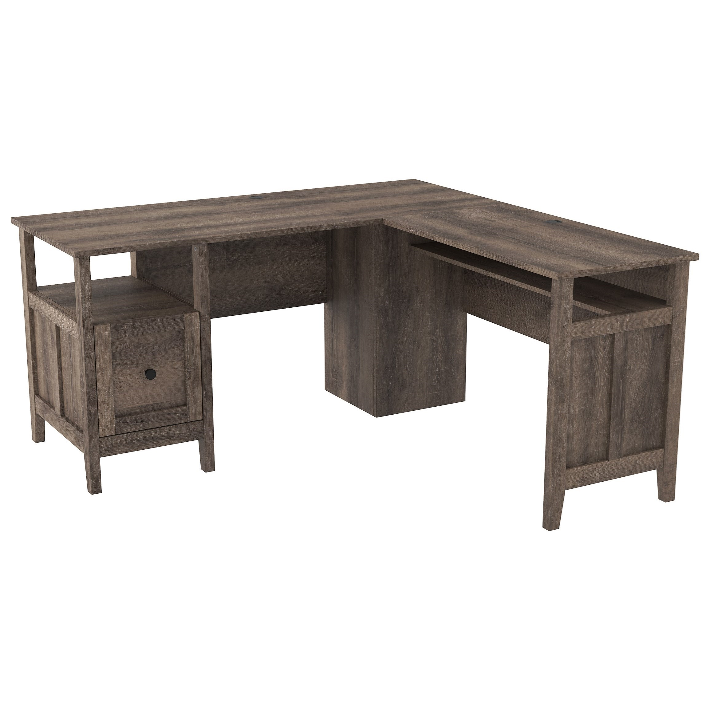 Arlenbry L-Shape Home Office Desk by StyleLine at EFO Furniture Outlet
