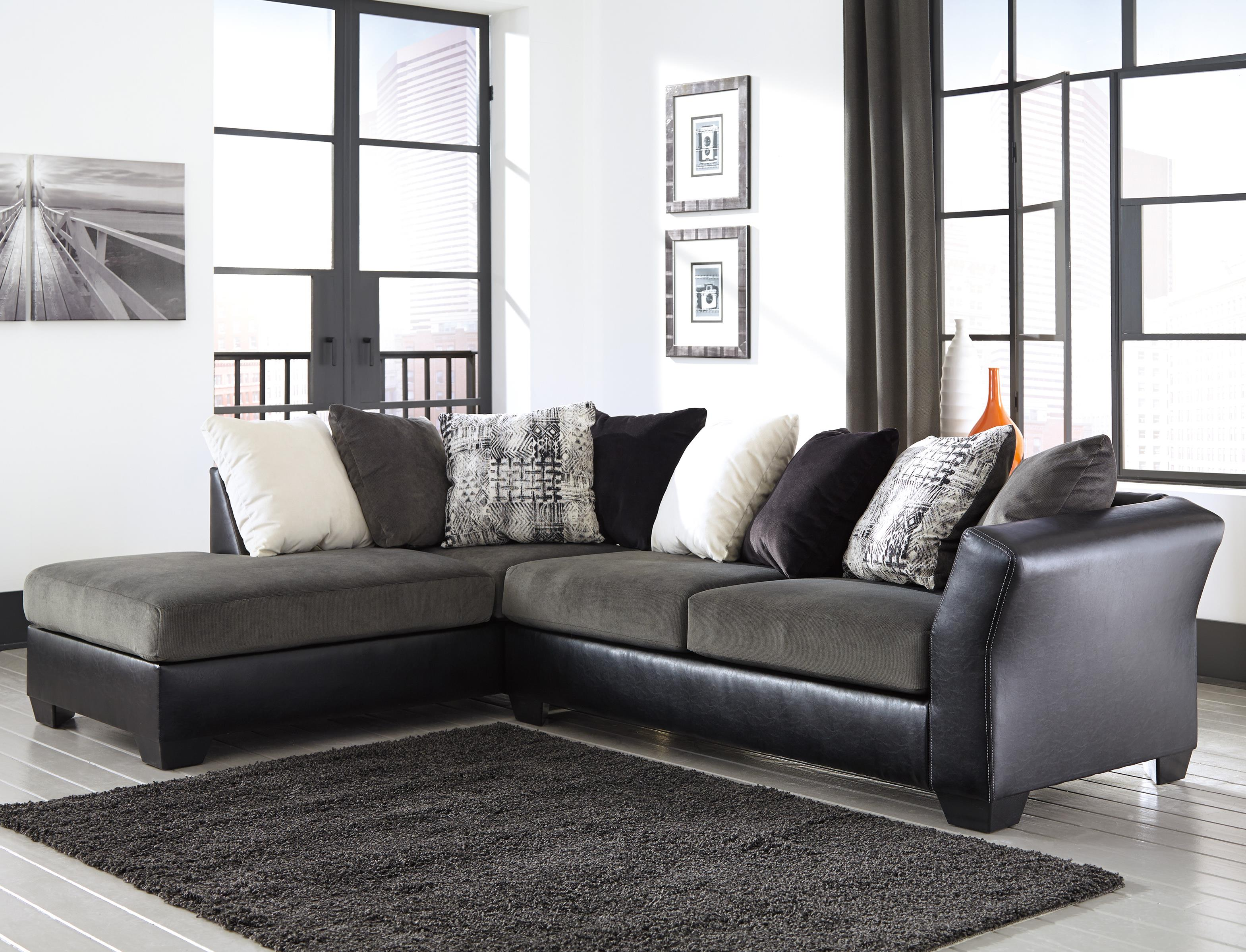 Signature Design by Ashley Armant 2-Piece Sectional with Left Chaise - Item Number: 2020016+67