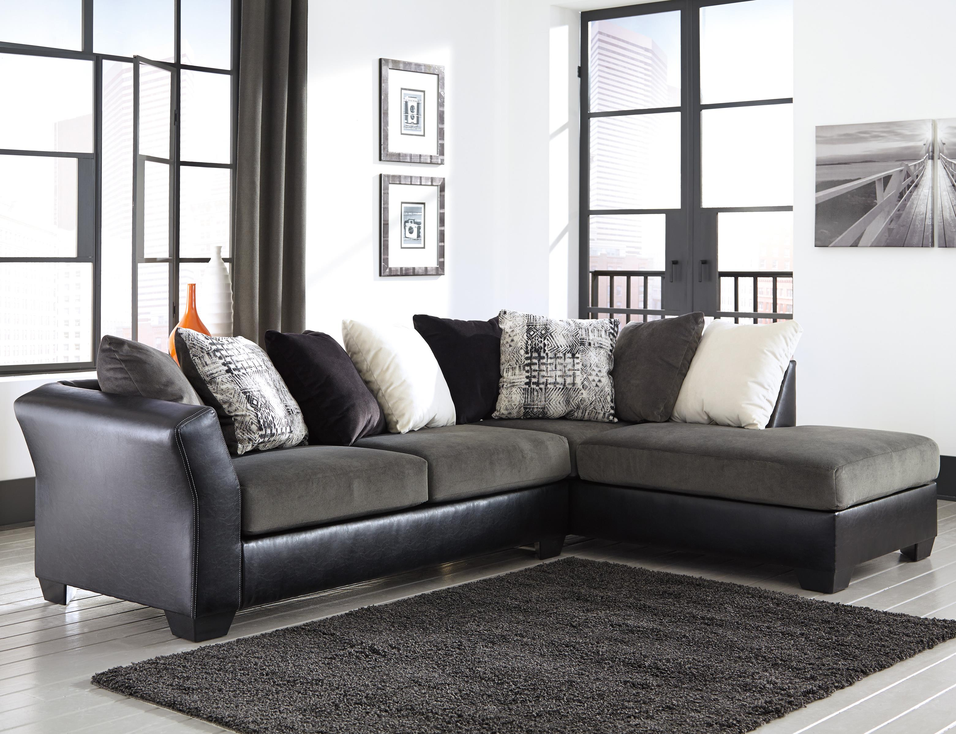 Signature Design by Ashley Armant Contemporary 2 Piece Sectional