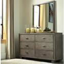 Ashley (Signature Design) Arnett Dresser and Mirror Set - Item Number: B552-31+36
