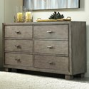 Signature Design by Ashley Arnett Contemporary 6-Drawer Dresser