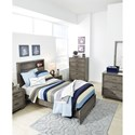 Signature Design by Ashley Arnett Contemporary Twin Bed