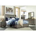 Signature Design by Ashley Arnett Contemporary King Bed