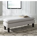 Signature Design by Ashley Arrowrock Pinstripe Upholstered Accent Bench