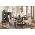 Ashley (Signature Design) Audberry Casual Dining Room Group - Item Number: D637 Dining Room Group 3