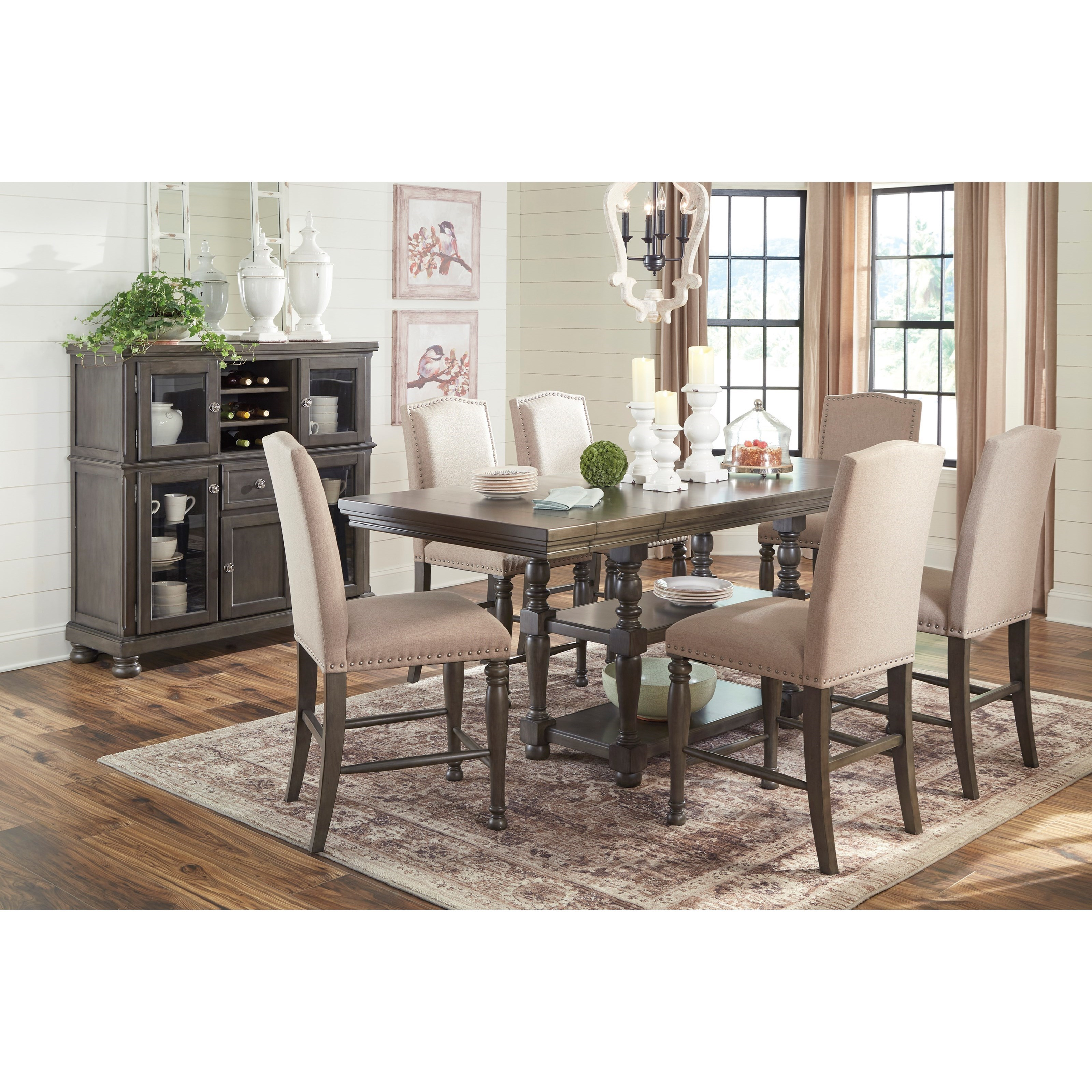 Signature Design By Ashley Furniture Hayley 7 Piece Dining: Signature Design By Ashley Audberry Transitional Seven