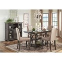 Signature Design by Ashley Audberry Transitional Dining Room Server with 12-Bottle Wine Rack