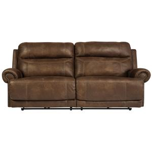 Signature Design by Ashley Austere - Brown 2 Seat Reclining Sofa
