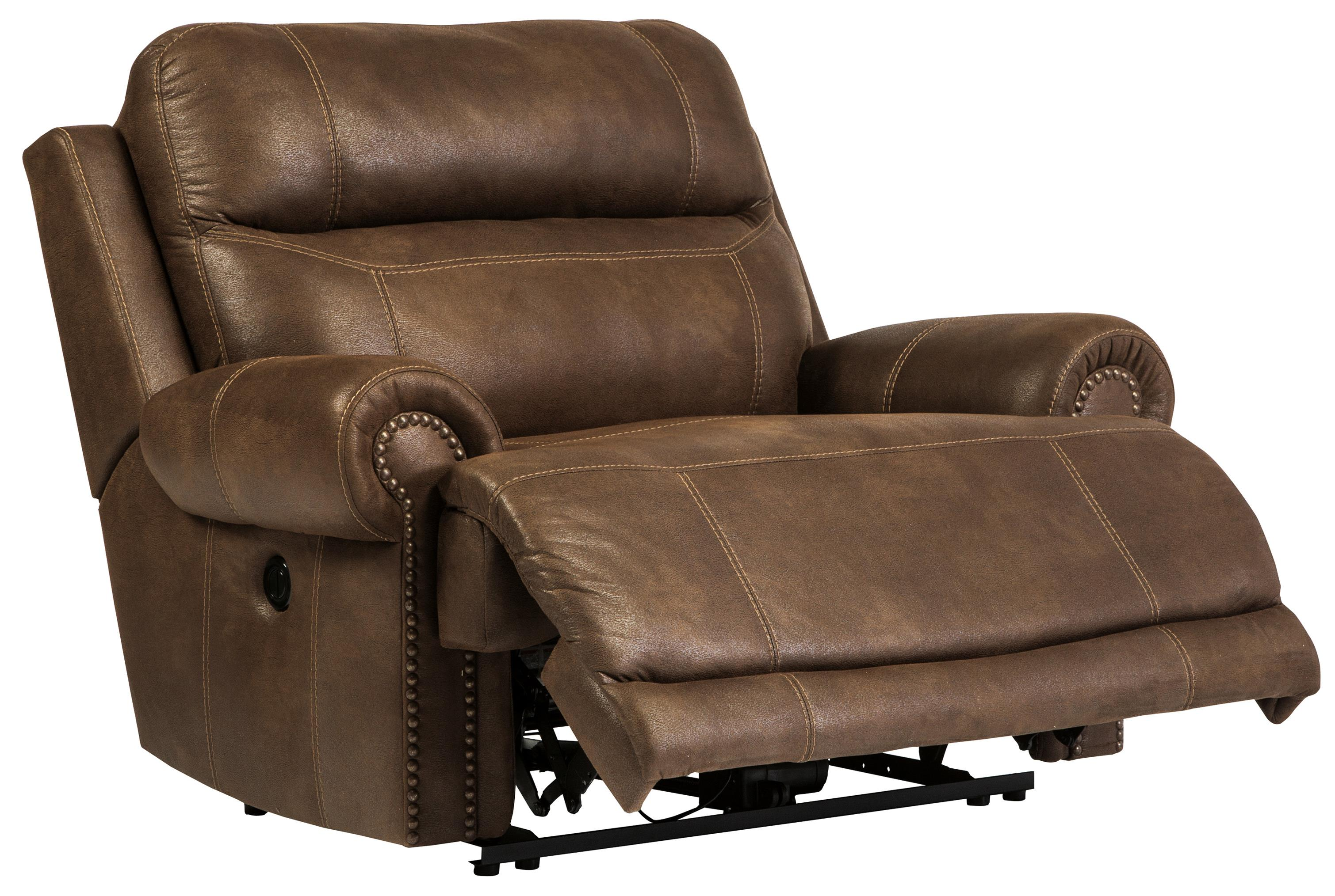 Brown 3840082 Zero Wall Power Wide Recliner With Rolled Arms