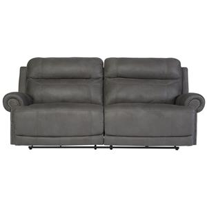 Signature Design by Ashley Austere - Gray 2 Seat Reclining Power Sofa