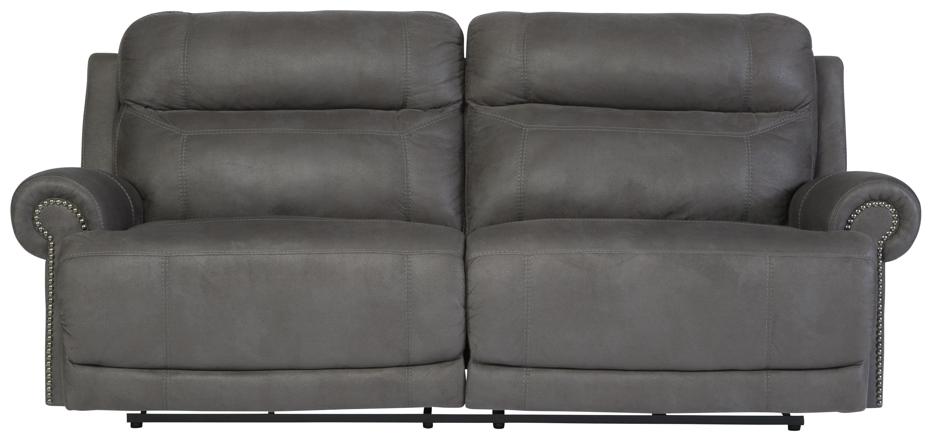 Signature Design by Ashley Austere - Gray 2 Seat Reclining Sofa - Item Number: 3840181