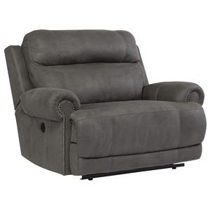 Signature Design by Ashley Austere - Gray Zero Wall Power Wide Recliner