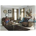 Signature Design by Ashley Austere - Brown Reclining Sofa, Loveseat and Recliner Set - Item Number: 819338410