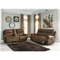 Signature Design by Ashley Austere - Brown Power Recliner Sofa, Loveseat and Recliner S - Item Number: 820338413