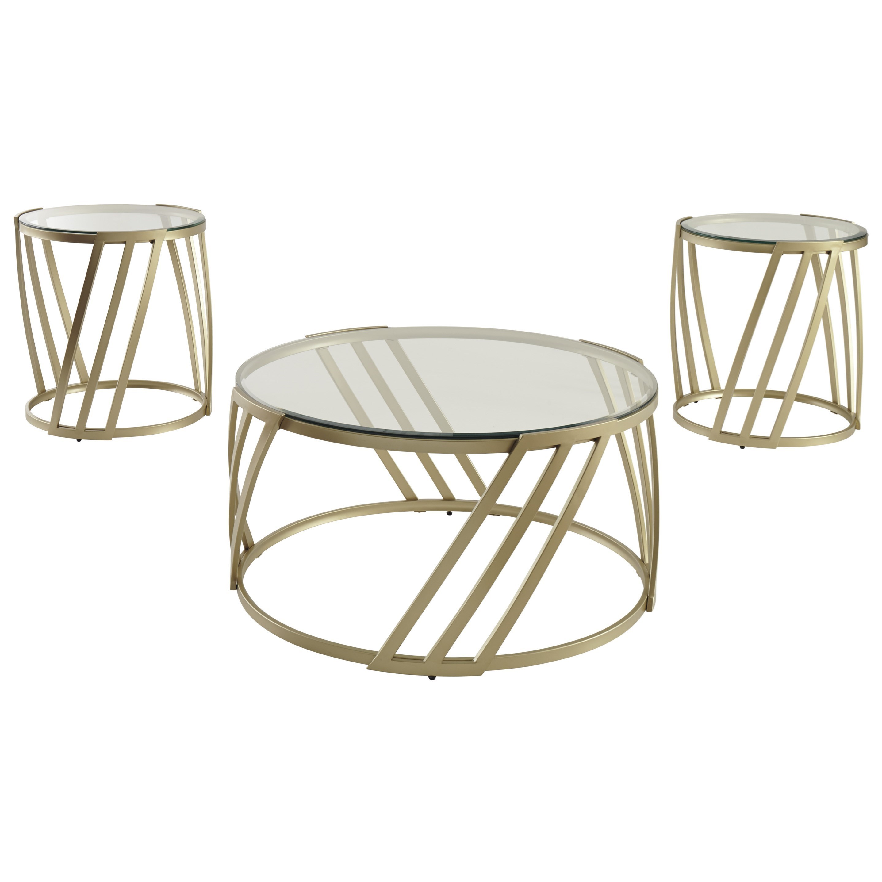 Signature Design by Ashley Austiny 3 Piece Occasional Table Set - Item Number: T345-13