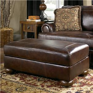 Signature Design by Ashley Axiom - Walnut Ottoman