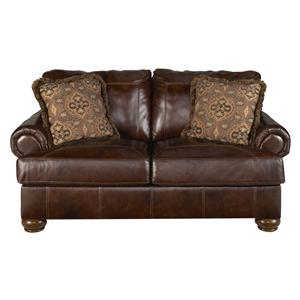 Signature Design by Ashley Axiom - Walnut Stationary Loveseat