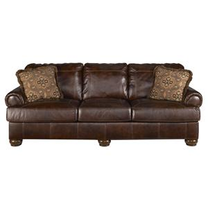 Signature Design by Ashley Axiom - Walnut Stationary Sofa