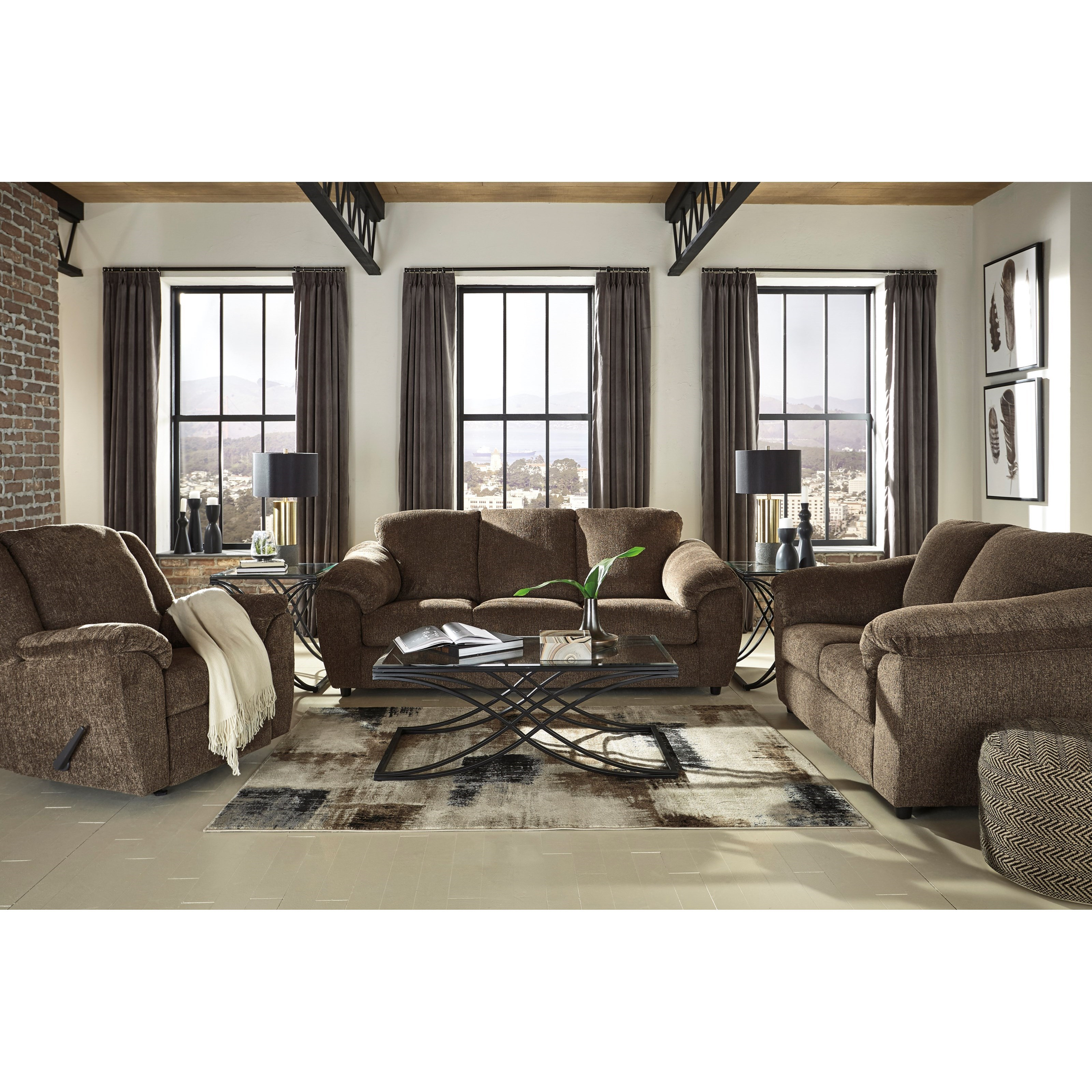 Signature Design by Ashley Azaline Stationary Living Room Group - Item Number: 93203 Living Room Group 2