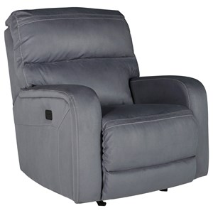 Signature Design by Ashley Azzedella Power Rocker Recliner w/ Adjustable Headrest