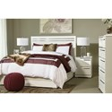 Signature Design by Ashley Brillaney Contemporary King Bed with Chrome Accents