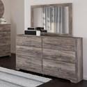 Signature Design by Ashley Ralinski Dresser & Bedroom Mirror - Item Number: B2587-31+36