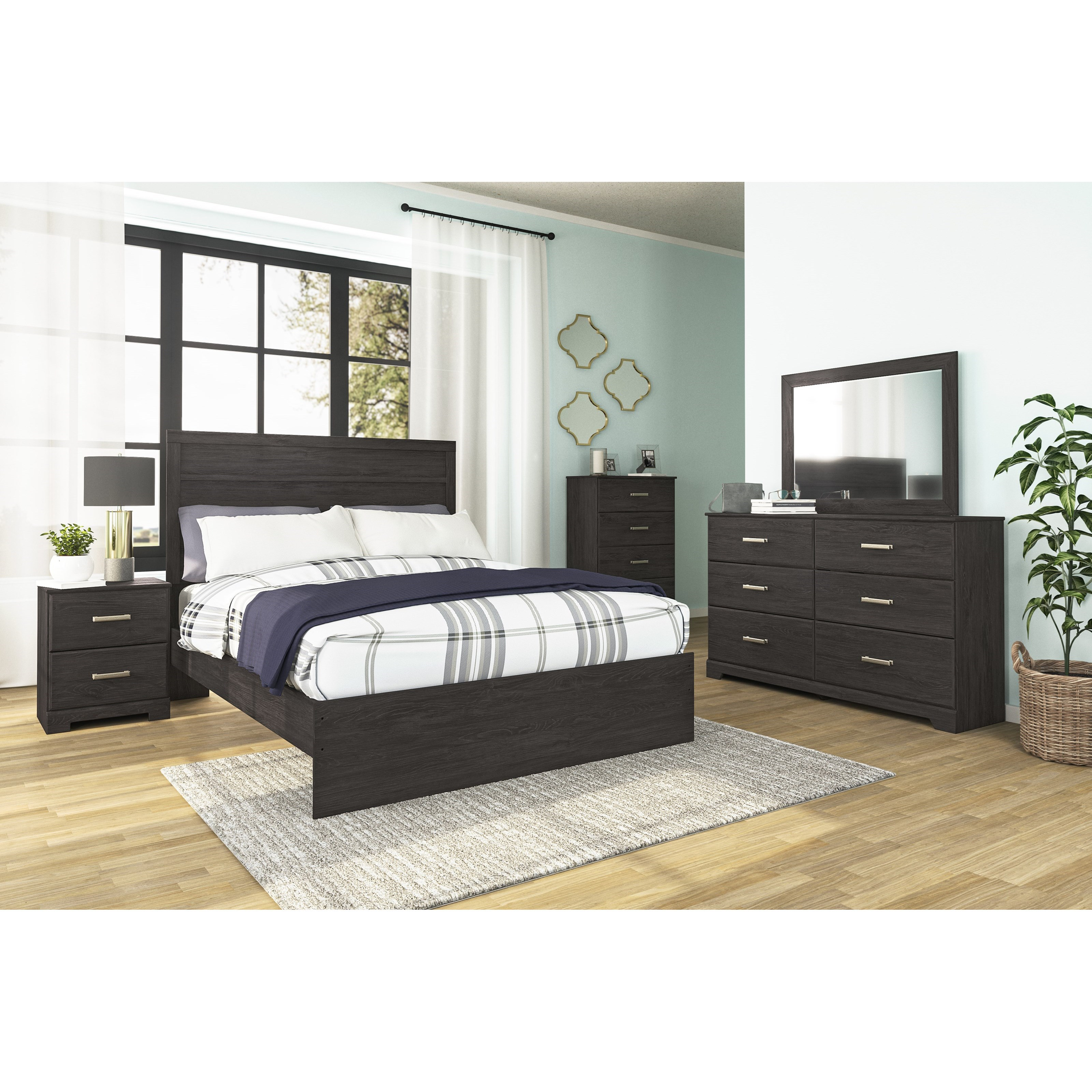 Belachime Queen Bedroom Group by StyleLine at EFO Furniture Outlet