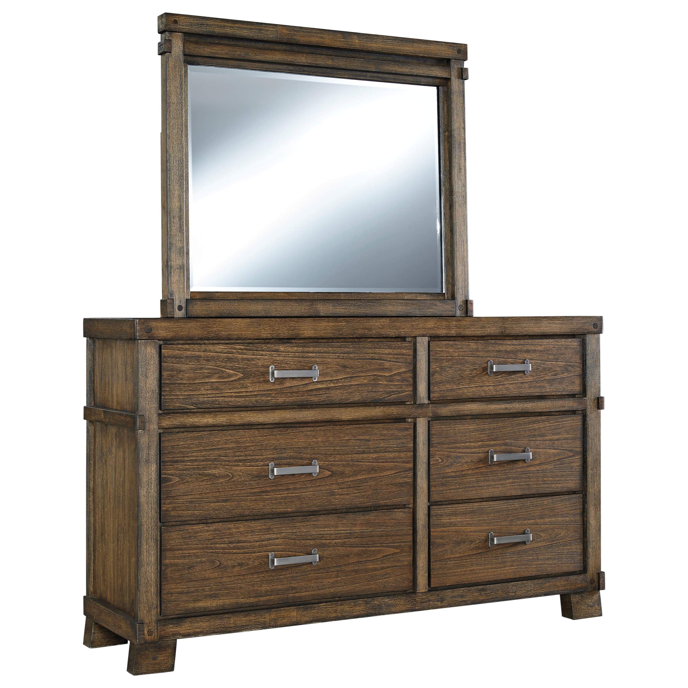 Signature Design by Ashley Leystone Dresser with Mirror - Item Number: B614-31+36